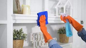 het huis schoonmaken