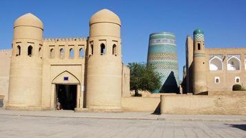 Khiva, Zijderoute, Oezbekistan, Azië foto