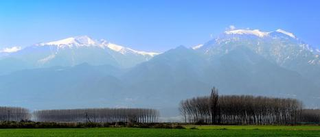 de kleuren van de berg olympus griekenland foto