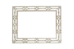 geïsoleerde zilveren omlijsting foto