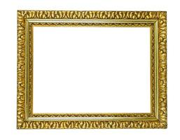 antieke gouden fotolijst foto