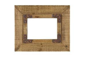 oude houten afbeeldingsframe foto