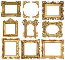 gouden fotolijsten. antieke voorwerpen in barokstijl