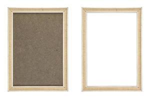 oude witte fotolijst met en zonder hardboard achtergrond,