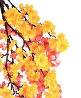 kunstmatige sakura witk bloemen foto