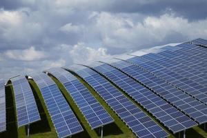 zonne-energie boerderij foto