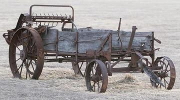 antieke landbouwmachines foto