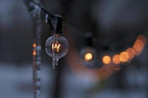 de ijzige lichtstreng foto