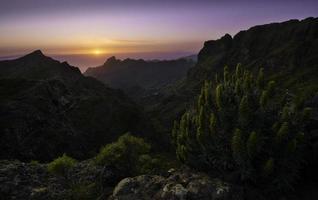 zonsondergang boven Masca, Tenerife