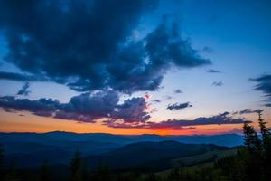 kleurrijke hemel foto