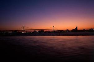 blauwachtig paarse lucht foto