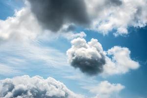 hemel met wolken.
