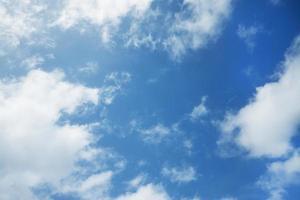 blauwe hemel met verspreide wolken
