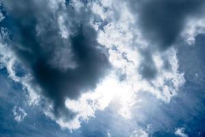mooie dramatische hemel foto