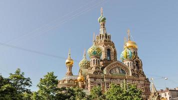 kerk van onze verlosser op het vergoten bloed - Rusland foto