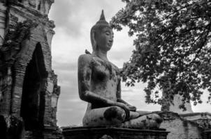 ruïne van de oude tempel van Boedha in Thailand