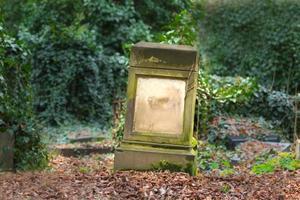 verloren steenachtige grafsteen foto