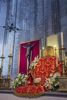 interieur van de kathedraal, los santos justos, alcala de henares, foto