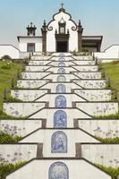 traditionele portugese kapel in sao miguel, azoren, portugal. foto