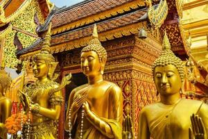 Boeddhabeelden in wat phra that doi suthep