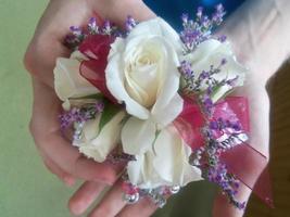 bloemen pols corsage foto