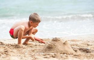 zandkasteel bouwen foto
