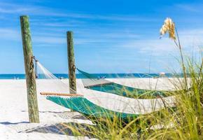 hangmat op een strand