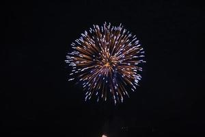 vuurwerk tegen donkere hemel