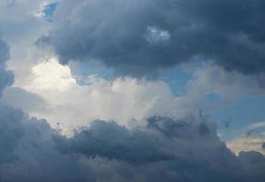 blauwe lucht tussen de wolken
