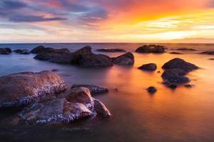 warme en koude zee foto