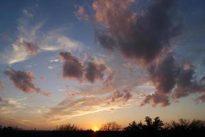 paars en wolken