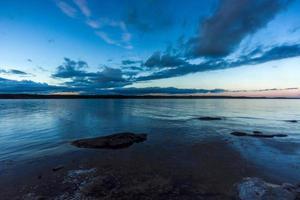 midzomernacht in scandinavië foto