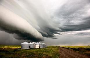 prairie onweerswolken foto