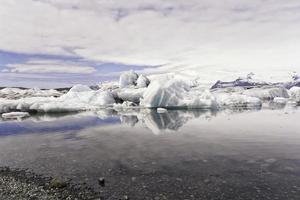 ijs op het strand foto