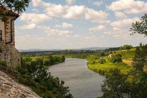 vistula rivier in tyniec (polen)