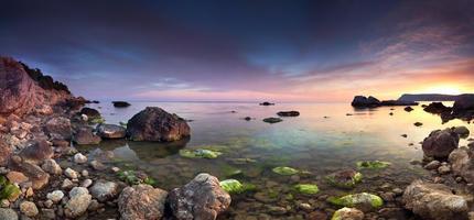 kleurrijk panorama van de sanset