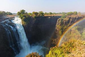 regenboog bij victoria falls foto