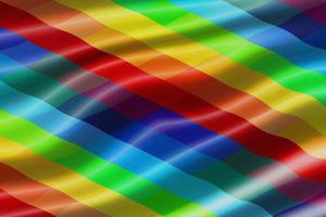 regenboog wapperende vlag