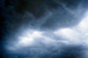 storm bewolkte hemel voordat het regent