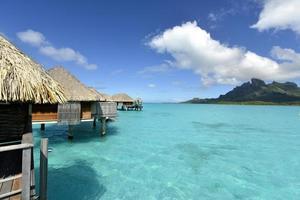 bora-bora idyllisch paradijselijk eiland foto