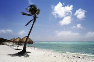 Caribische turquoise zee foto