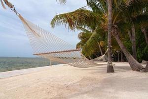 hangmat op het strand foto