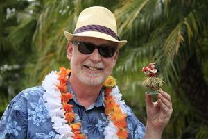 hawaiiaanse toerist met hula-pop