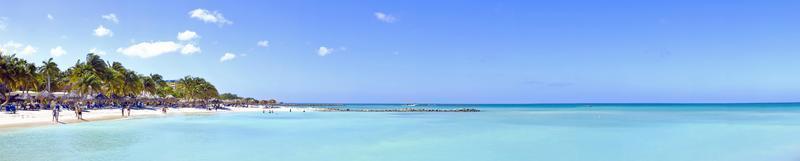 palm beach op aruba foto