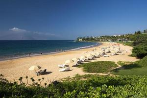 Wailea Beach, zuidkust van Maui, Hawaï foto