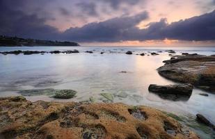Bronte strand bij dageraad