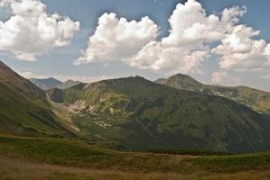 toppen en vallei van Tatry-gebergte