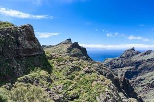 dichtbij het dorp Masca op Tenerife La Gomera ver weg