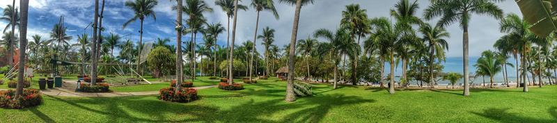 panorama van een Mexicaans resort