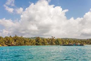 tropische zee panorama foto